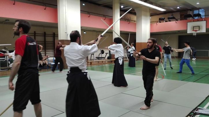 escrime ancienne aikido 2 - épée à 2 mains
